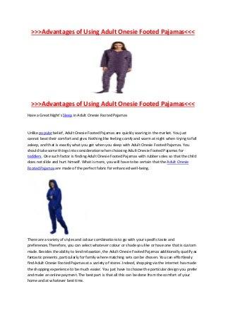 New Arrival of Adult Footie Pajamas in Australia
