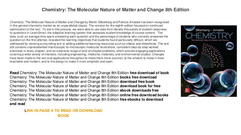 Chemistry The Molecular Nature Of Matter Th Edition Free