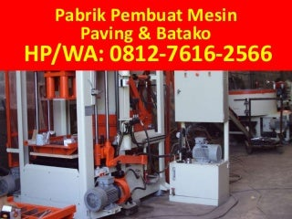 TELP/WA: 0812-7616-2566 (Tsel), Jual mesin pres paving block padang