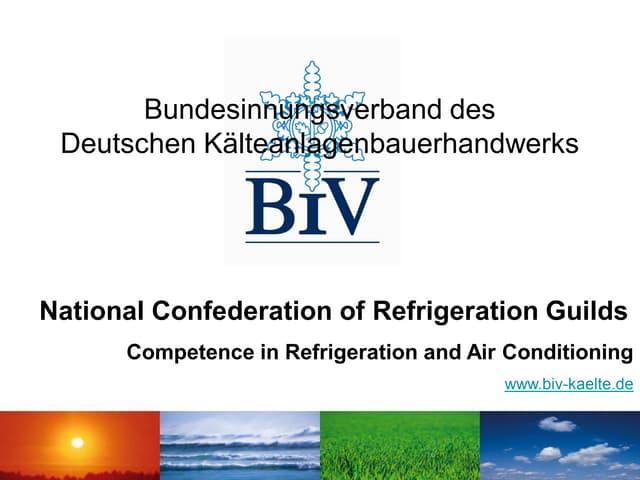 National Conferedration of Refrigeration Guids