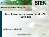 The influence on leakage rate of RAC equipment