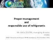 Proper management and responsible use of refrigerants