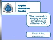 What can we do in Hungary for safer environment in utilization of SF6