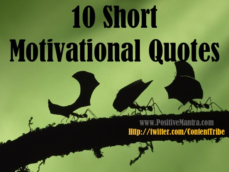 Short Encouraging Quotes Delectable 10 Short Motivational Quotes
