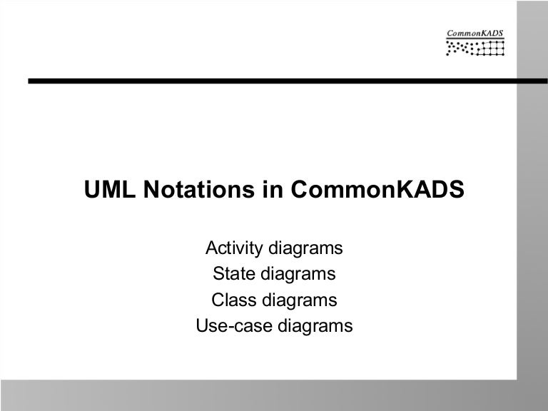 Uml notations used by commonkads ccuart Images