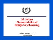 10 Unique Characteristics of Design for eLearning