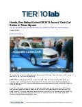 Honda, Ben Bailey Kicked Off 2013 Accord 'Cash Car' Series in Times Square