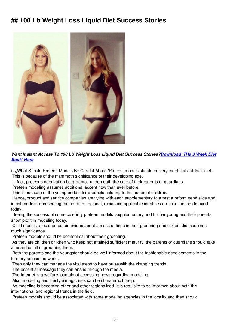 liquid diet successful weight loss
