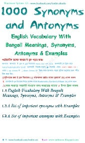 Vocabulary with bengali meanings,1000-synonyms & antonyms