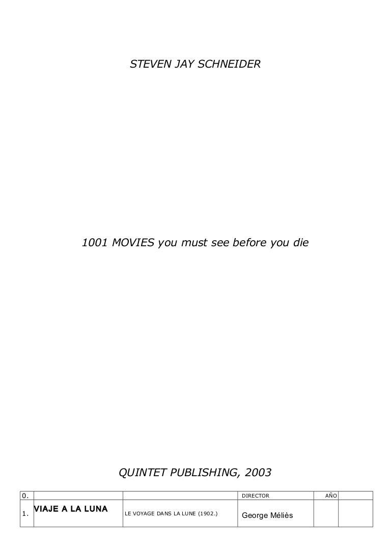 1001 Games To Play Before You Die List 1001 peliculas que debes ver antes de morir lista completa