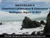 SharePoint Masterclass with Michael Sampson (Wellington, August 18 2010)