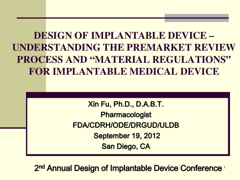 Medical Devices - Food and Drug Administration