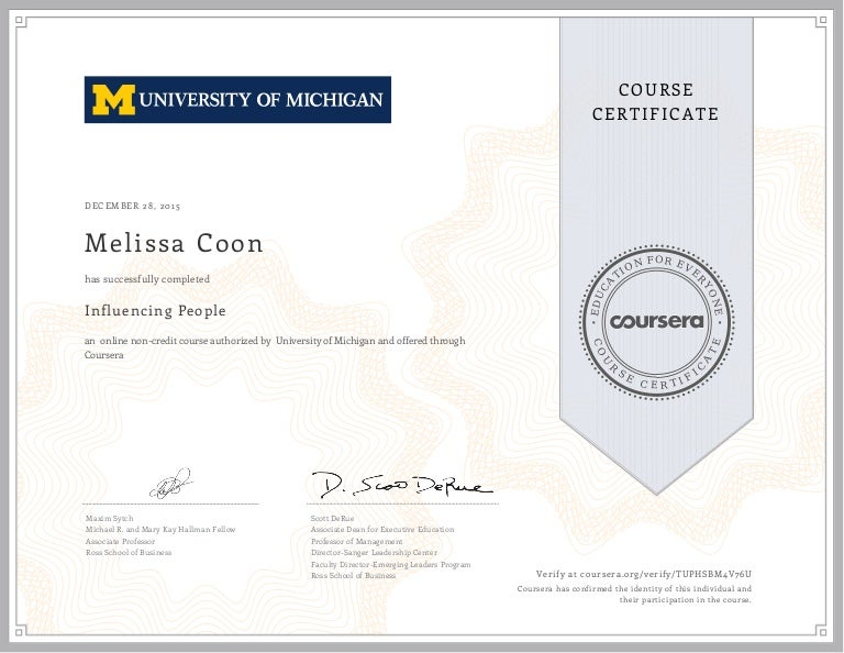 Coursera Certificate Influencing People Tuphsbm4v76u