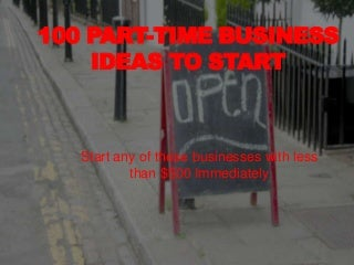 100 Home Business Ideas - All Low Cost Business Ideas