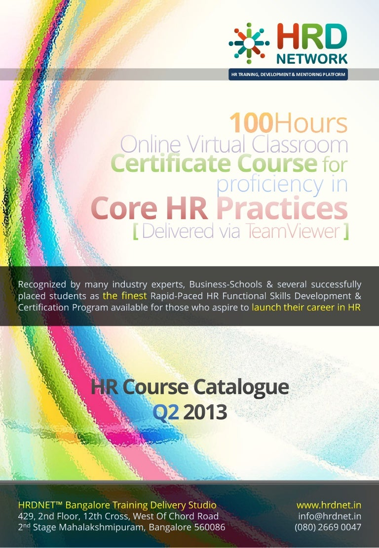 100 hours 2 months hrdnet advanced certificate course of profici xflitez Choice Image