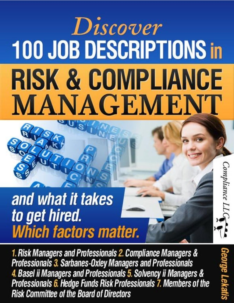 Discover 100 Job Descriptions In Risk And Compliance Management And W…