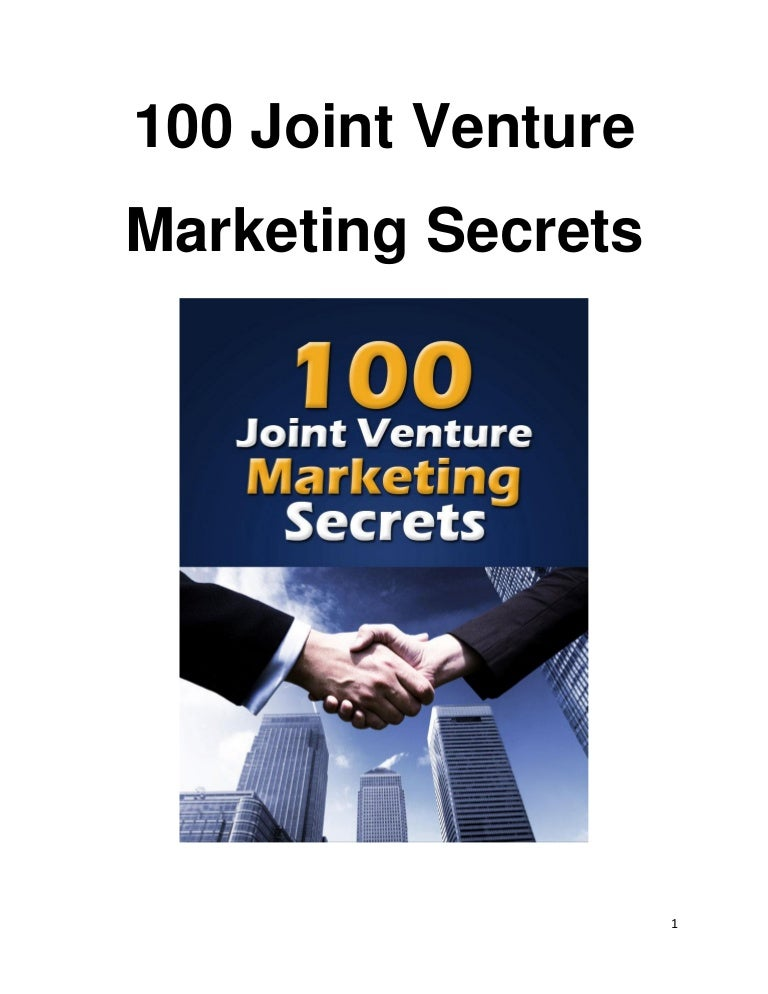 100 joint venture marketing secrets learn the top ways for persuadi fandeluxe Choice Image