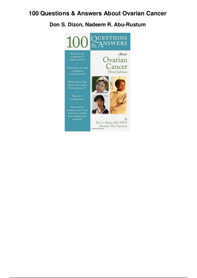 100 Questions And Answers About Ovarian Cancer Pdf