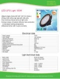 100W LED UFO LIGHT