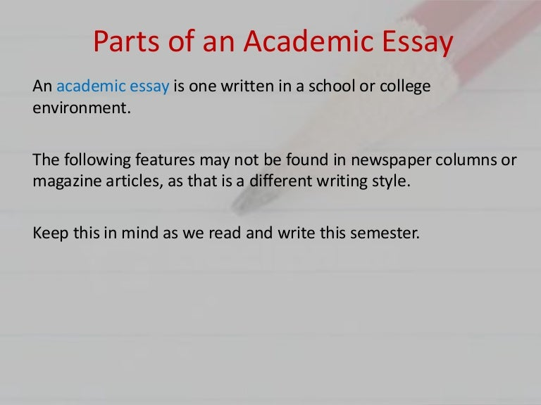 eng parts of an essay
