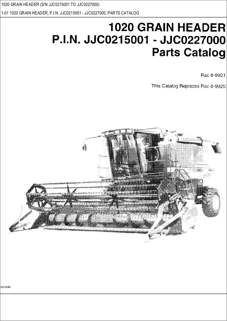 CASE 1020 Grain header