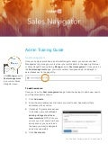 The New Sales Navigator: Admin Training Guide