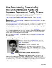 How Transforming Source-to-Pay Procurement Delivers Agility and Improves Outcomes at Zuellig Pharma