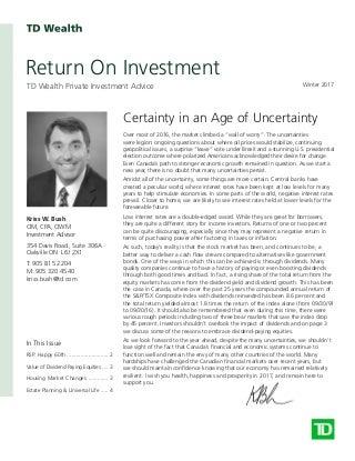 Q117 TD Return On Investment Newletter Kriss Bush January 1, 2017pdf