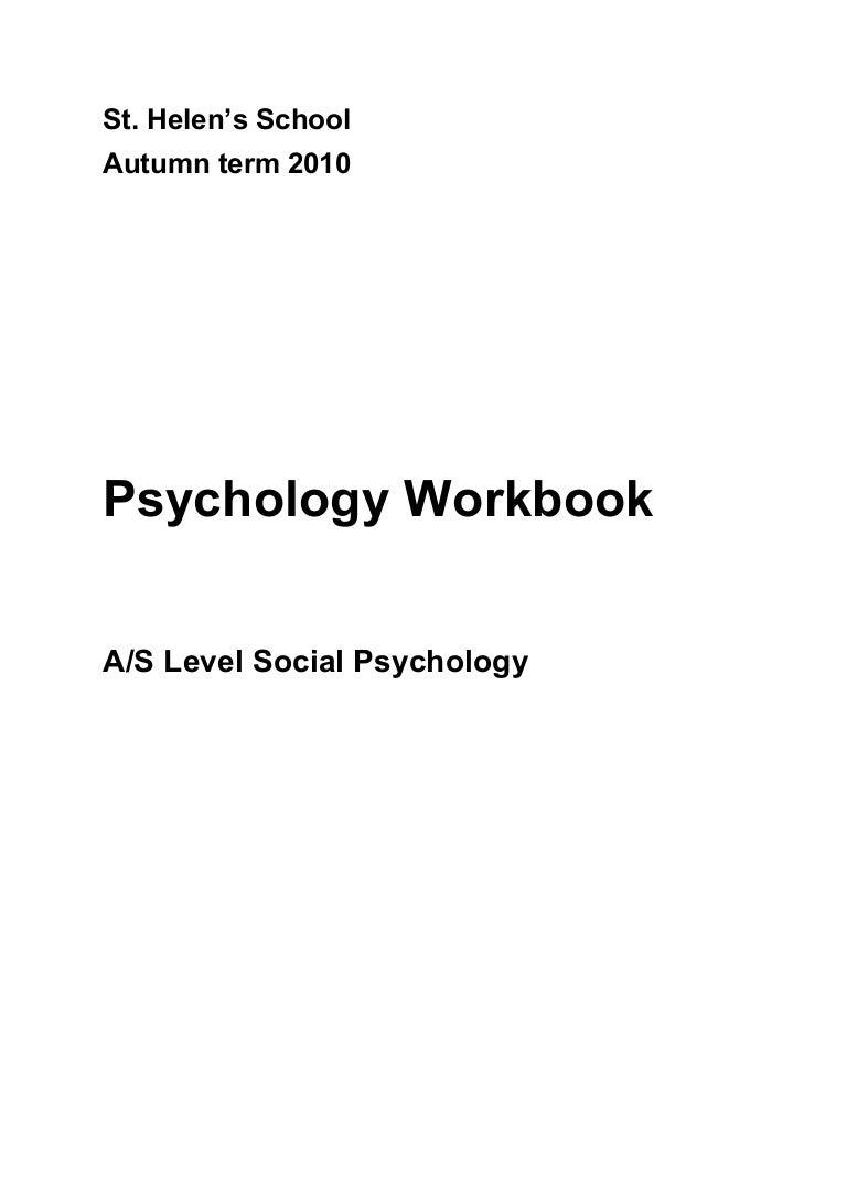 Workbooks psychology workbook : Resourcd File
