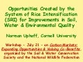 1039 Opportunities Created by the System of Rice Intensification (SRI) for Improvements in Soil, Water & Environmental Quality