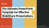 Make Effective SlideShare Presentations with Free PowerPoint Templates by @slide_shop