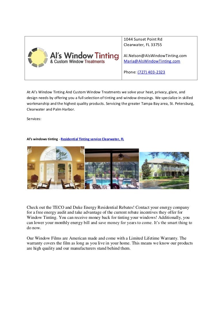window tinting clearwater als windows tinting residential tinting service clearwater fl