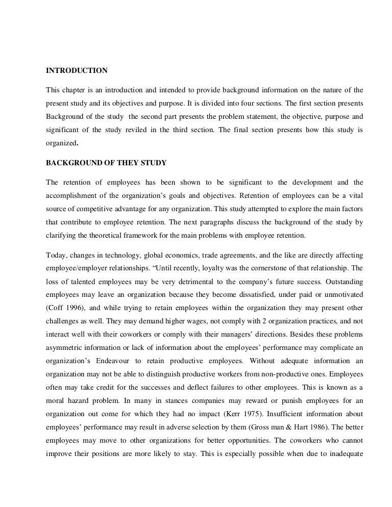 dissertation employee retention