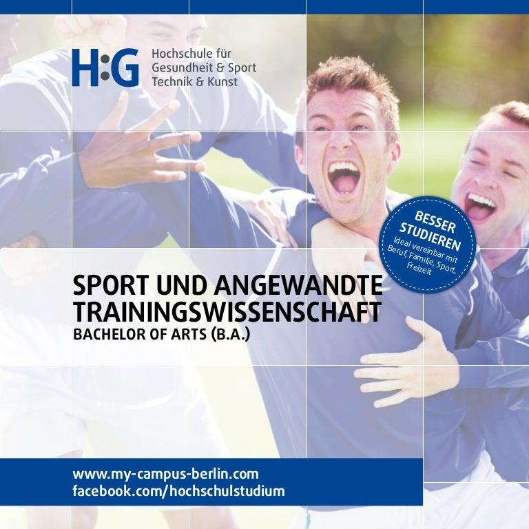 Sport und angewandte Trainingswissenschaft studieren