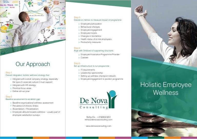 trifold brochure wellness