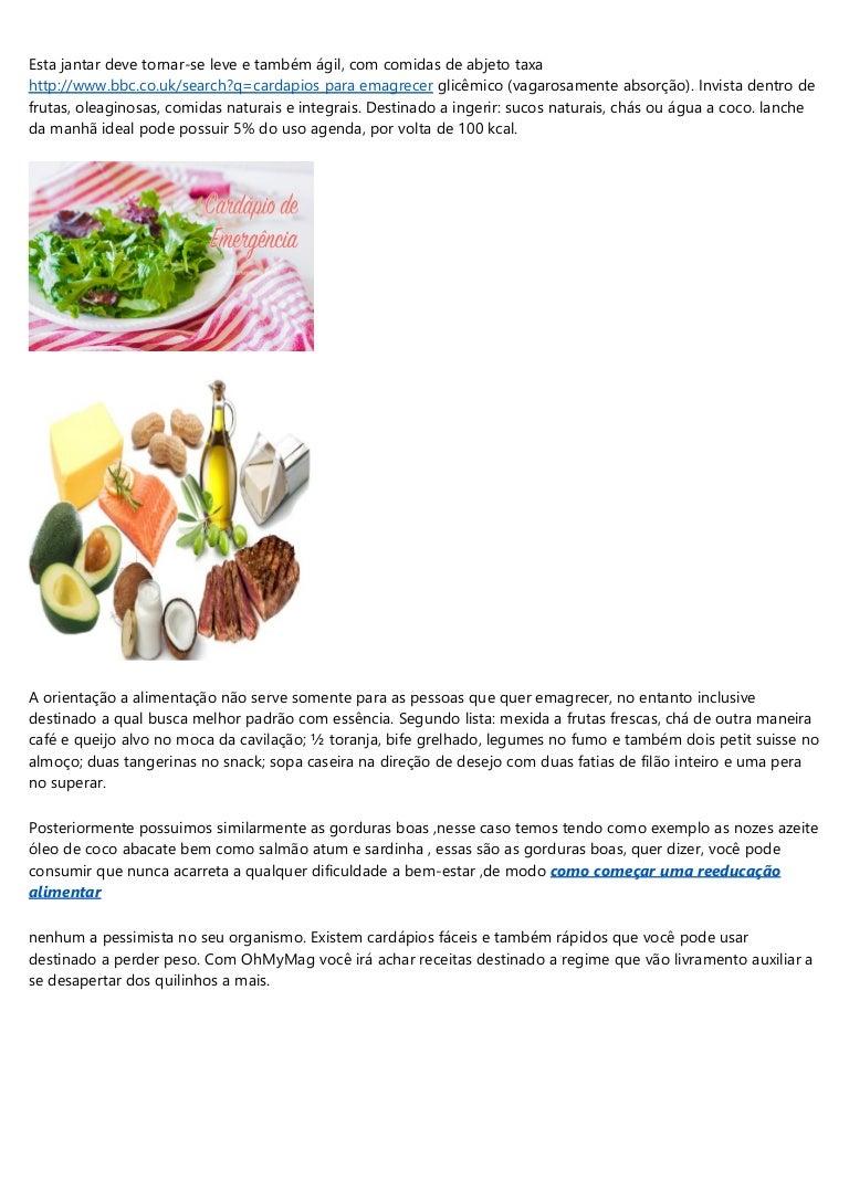 reeducação alimentar para perder peso rapido cardapio