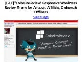 "[GET] ""ColorProReview"" Responsive WordPress Review Theme for Amazon, Affiliate, Onliners & Offliners"