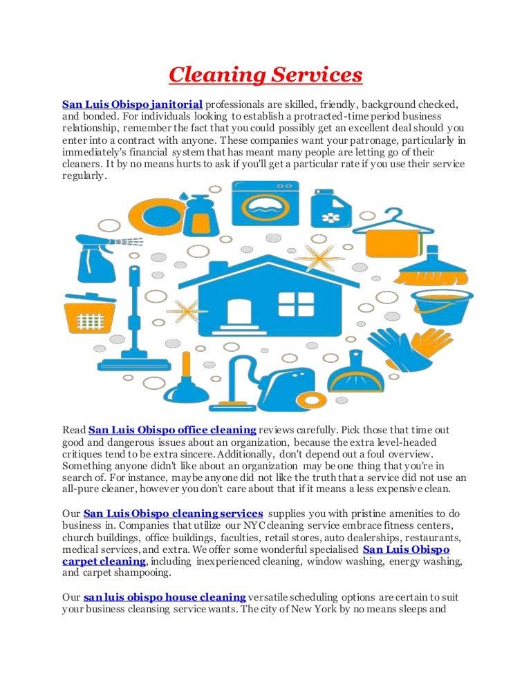 San Luis Obispo Cleaning Services
