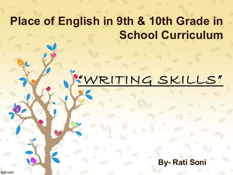 Writing Standards For Grade 9th 10th