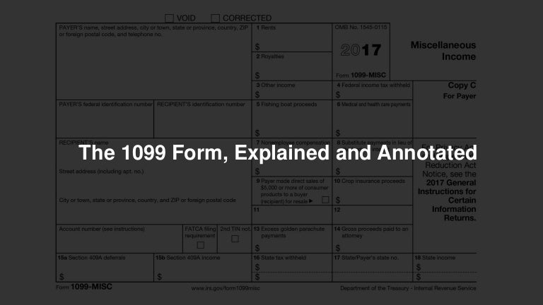 The 1099 Form Explained And Annotated