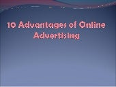 10 advantages of online advertising