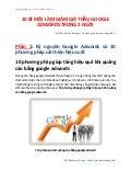 [Adwords chuyên sâu NETDO] 10 bí mật làm giảm giá thầu google adwords trong 2 ngày