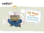 100 Ways to Use Social Media Monitoring