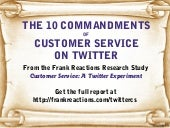 The 10 Commandments of Customer Service on Twitter
