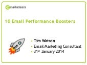 10 Strategies To Boost Your Email Campaign Performance