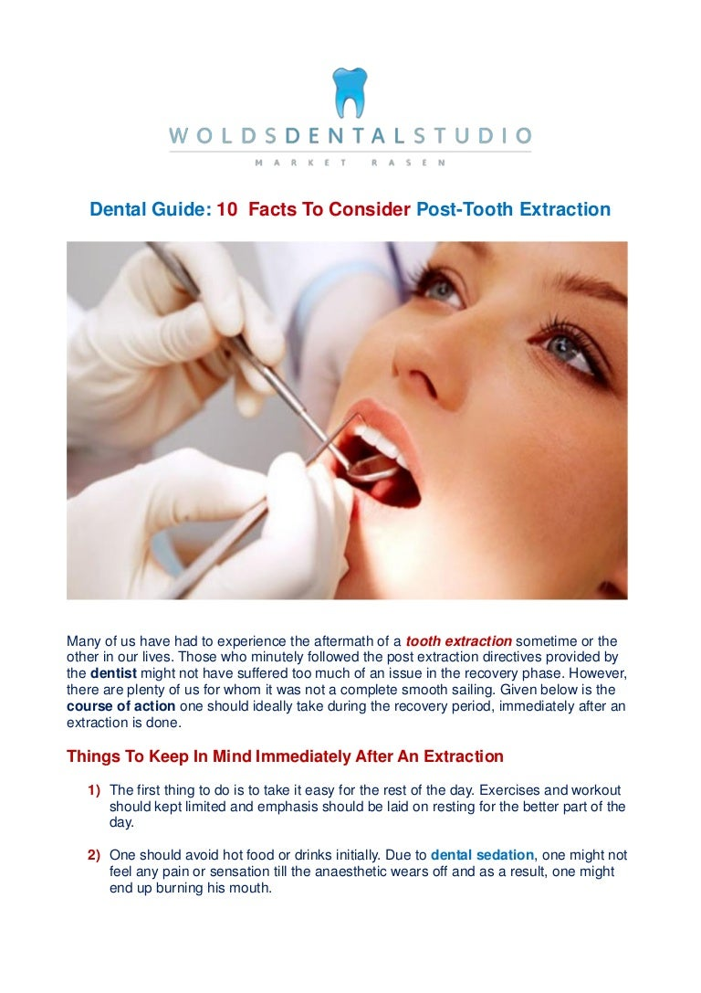 10 facts to consider post tooth extraction
