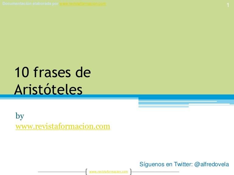 10 Frases De Aristoteles