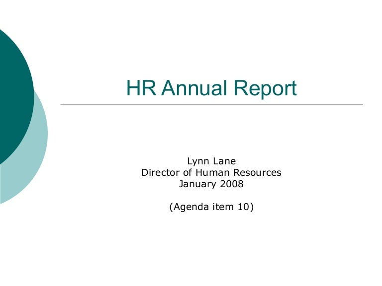 10 Hr Annual Report