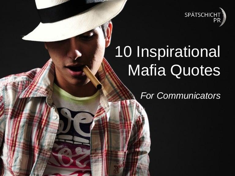 10 inspirational mafia quotes for communicators ccuart Gallery
