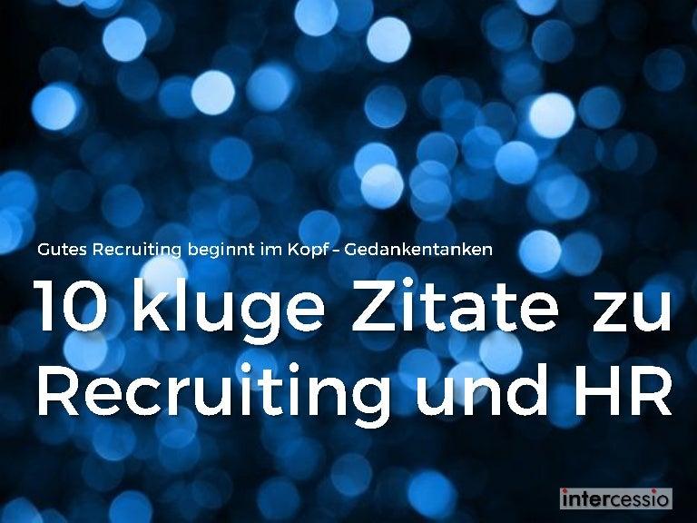 10 Kluge Zitate Für Hr Und Recruiting